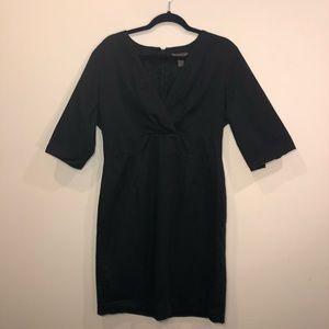 Bitten Black 3/4 Sleeve Empire Dress